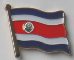 Costa Rica Country Flag Enamel Pin Badge